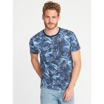 Soft-Washed Perfect-Fit Crew-Neck Tee for Men Hot Deal