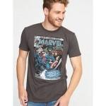 Marvel Comics Avengers Vintage Tee for Men