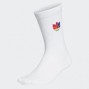 3D Trefoil Cuff Crew Socks