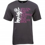 Stussy Men Buana Stack Tee (charcoal)