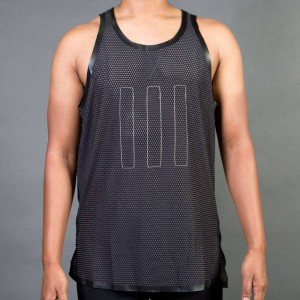 Adidas Consortium Day One Men Mesh Singlet (black / light brown)