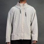 Adidas Consortium Day One Men Waffle Hooded Tracktop Jacket (brown / clear brown)