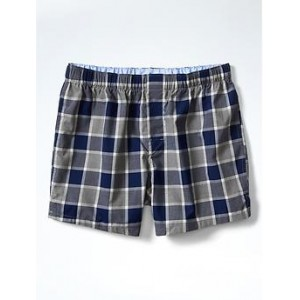 Navy Plaid Boxer