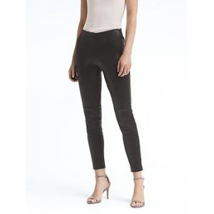 Petite Devon Legging-Fit Stretch Leather Ankle Pant
