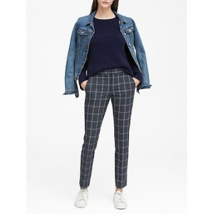Petite Ryan Slim Straight-Fit Machine-Washable Windowpane Pant