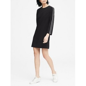 Petite Side-Stripe Shift Dress