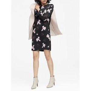 Petite Floral Ruffle-Cuff Dress