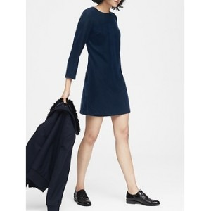Petite Velvet Shift Dress