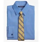Boys Non-Iron Supima Pinpoint Cotton French Cuff Dress Shirt