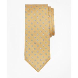 Boys Herringbone Oval Print Tie