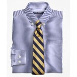 Boys Non-Iron Supima Cotton Broadcloth Bengal Stripe Dress Shirt