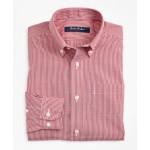 Boys Non-Iron Polo Button-Down Collar Micro-Check Dress Shirt