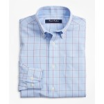 Boys Non-Iron Polo Button-Down Collar Glen Plaid Dress Shirt