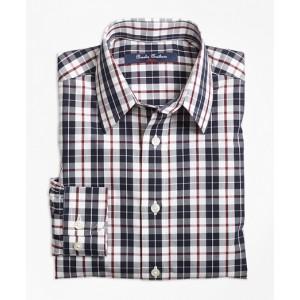 Boys Non-Iron Plaid Sport Shirt