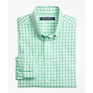 Boys Non-Iron Gingham Sport Shirt