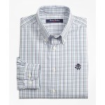 Boys Non-Iron Windowpane Tattersall Sport Shirt