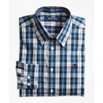 Boys Non-Iron Bold Plaid Sport Shirt