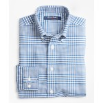 Boys Non-Iron Supima Cotton Double Gingham Sport Shirt