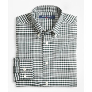 Boys Non-Iron Supima Cotton Double Gingham Sport Shirt