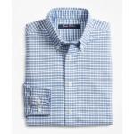 Boys Non-Iron Supima Oxford Mini Check Sport Shirt