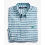 Boys Non-Iron Oxford Alternating Check Sport Shirt