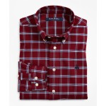Boys Non-Iron Oxford Windowpane Sport Shirt