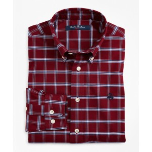 Boys Non-Iron Oxford Windowpane Sport Shirt