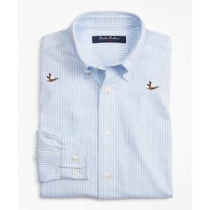 Boys Cotton Oxford Embroidered Sport Shirt
