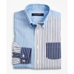 Boys Non-Iron Fun Stripe Sport Shirt
