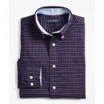 Boys Non-Iron Oxford Mini Plaid Sport Shirt