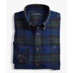 Boys Black Watch Plaid Flannel Sport Shirt