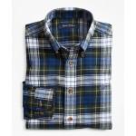 Boys Black Dress Gordon Flannel Sport Shirt