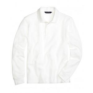 Boys Long-Sleeve Pique Polo Shirt