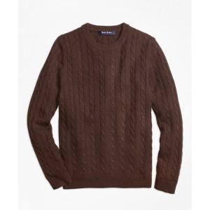 Boys Cashmere Cable Crewneck Sweater