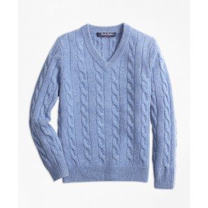 Boys Cashmere V-Neck Sweater