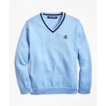 Boys Cotton V-Neck Sweater
