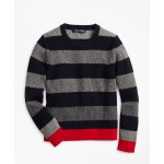 Boys Cotton Crewneck Stripe Sweater