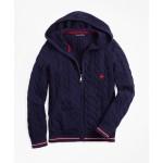 Boys Cotton Full-Zip Hooded Sweater
