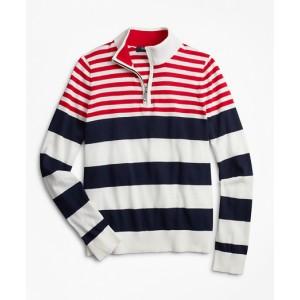 Boys Engineered Stripe Cotton Sweater