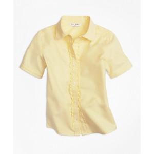 Girls Non-Iron Short-Sleeve Oxford