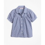 Girls Cotton Gingham Bib