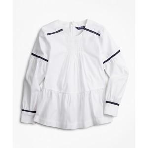 Girls Cotton Peplum Blouse