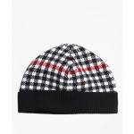 Girls Wool Blend Windowpane Hat