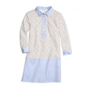Girls Cotton Waffle Knit Dress