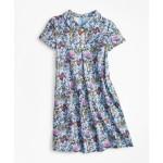 Girls Floral Peter Pan Collar Dress