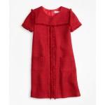 Girls Short-Sleeve Boucle Dress