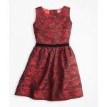 Girls Sleeveless Rose Jacquard Dress