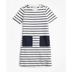 Girls Cotton Stripe Dress