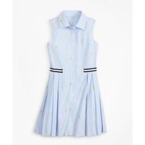 Girls Pineapple Print Cotton Dress