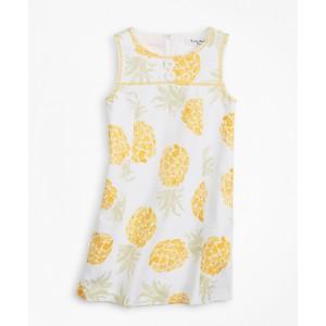Girls Cotton Pineapple Print Shift Dress